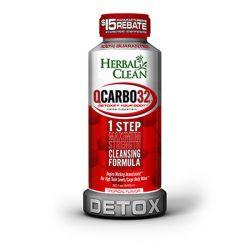 Herbal Clean QCarbo 16oz detox drink