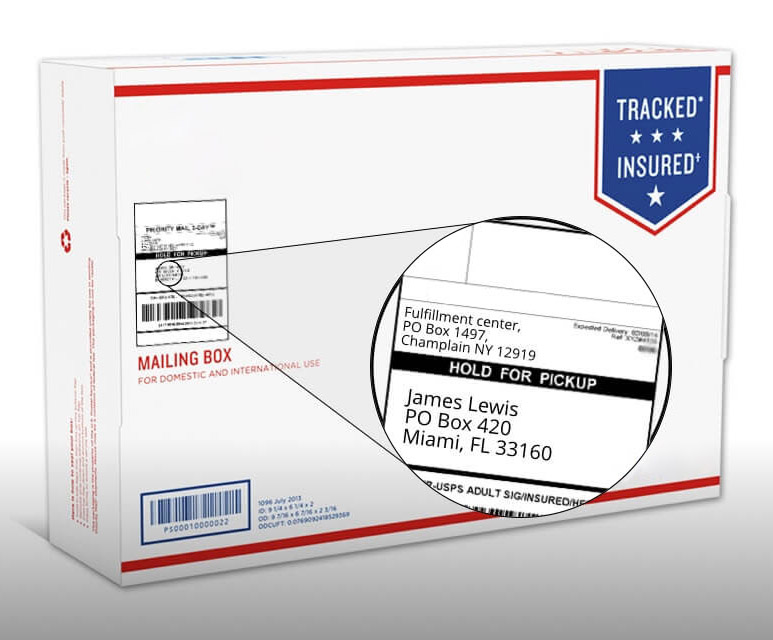Shipping and return address